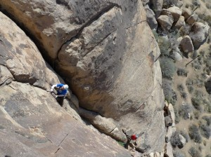 Lead Climbing in Joshua Tree