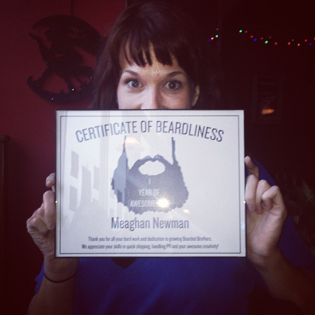 Certificate of Beardliness