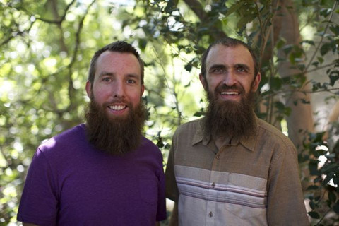 Chris and Caleb, owners of Bearded Brothers.